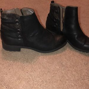 Cute black ankle boots